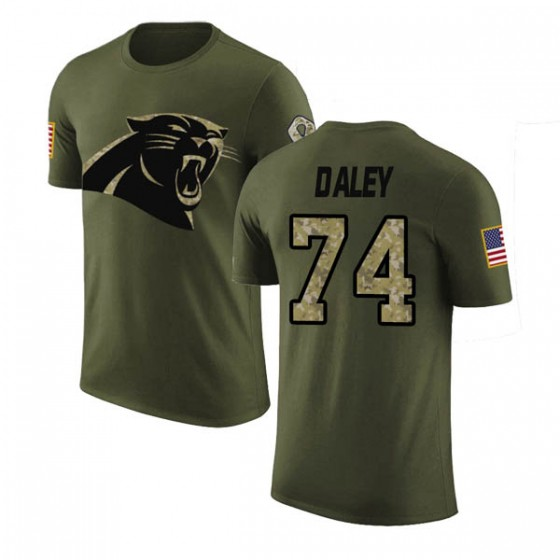 more photos d3970 eac72 Men's Dennis Daley Carolina Panthers Olive Salute to Service Legend T-Shirt